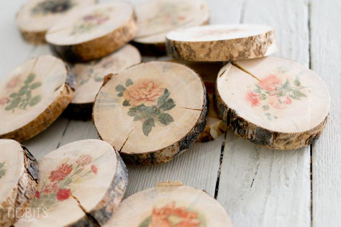 ساخت زیرلیوانی چوبی, زیر بشقابی چوبی, دکوپاژ روی چوب