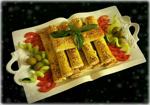دستور پخت غذا  , طرز تهیه بورک سیب زمینی و سبزیجات معطر