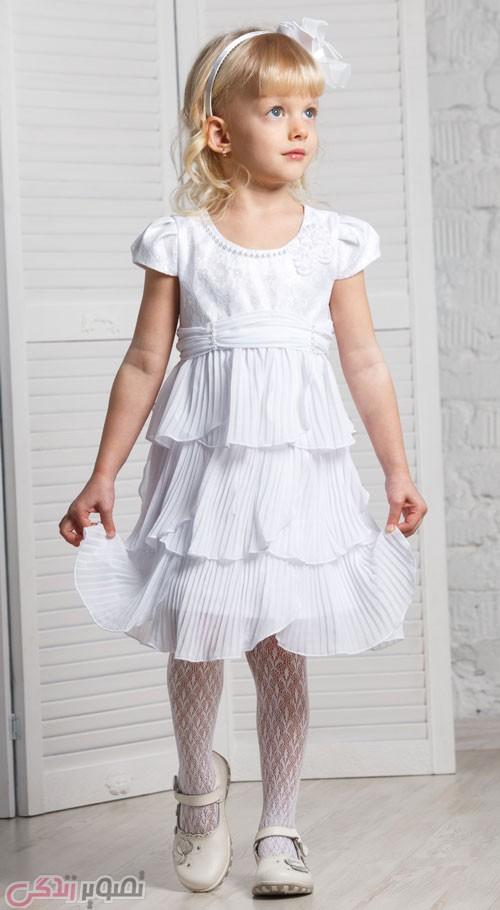 پیراهن سه دامنه, لباس مجلسی دختر بچه