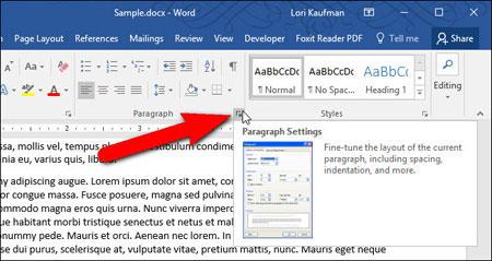 کامپیوتر  , جلوگیری از دو تکه شدن پاراگراف در word