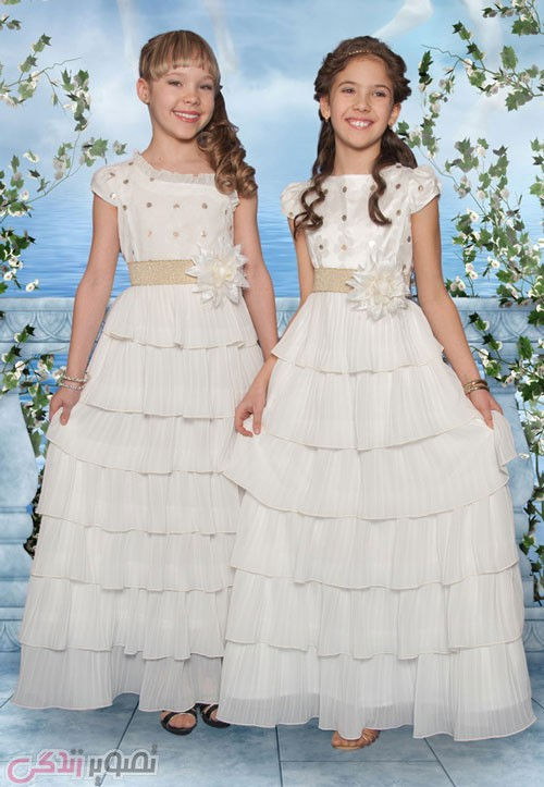 پیراهن عروس بچه گانه , لباس مجلسی دخترانه