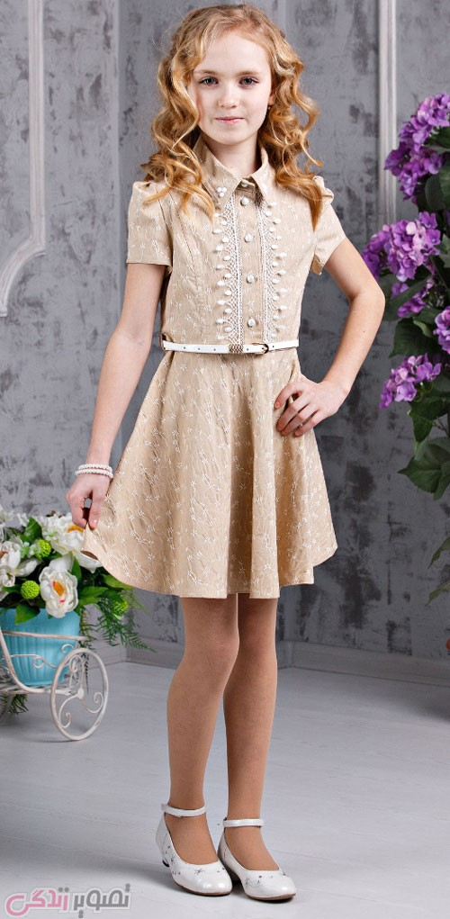 لباس بچگانه  , مدل لباس مجلسی دختران نوجوان برند azzarti