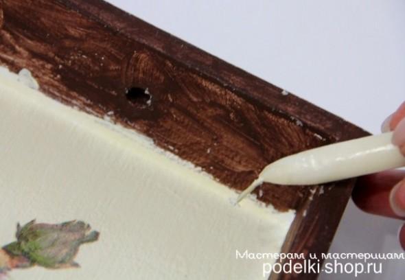 آموزش دکوپاژ, دکوپاژ سینی چوبی