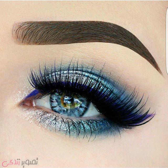 آرایش چشم آبی, مدل سایه چشم