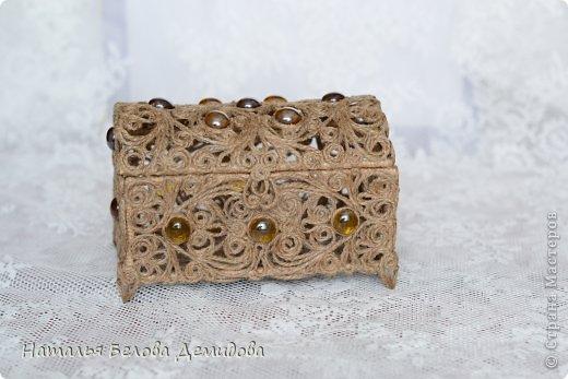 آموزش هنرهای دستی  , با هنر ملیله کنفی جعبه جواهر زیبا بسازید