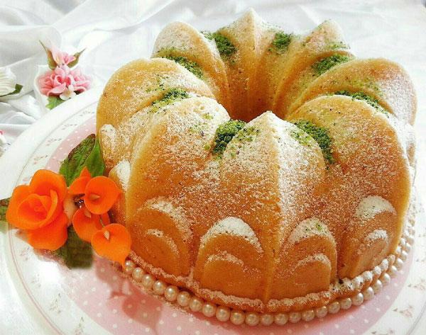 کیک هل و زعفران, طرز پخت کیک
