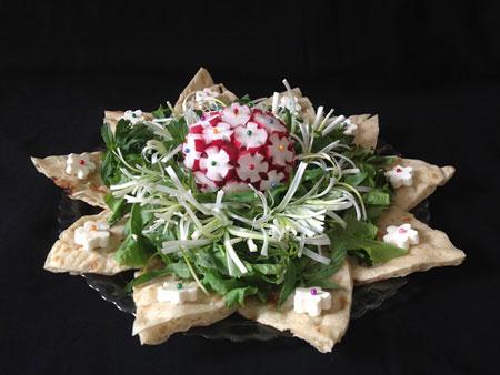تزئین نان و پنیر و سبزی, تزیین نان پنیر سبزی سفره عقد