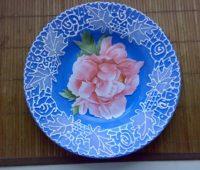 ریشلو, تزیین بشقاب بلوری, نقاشی روی ظروف