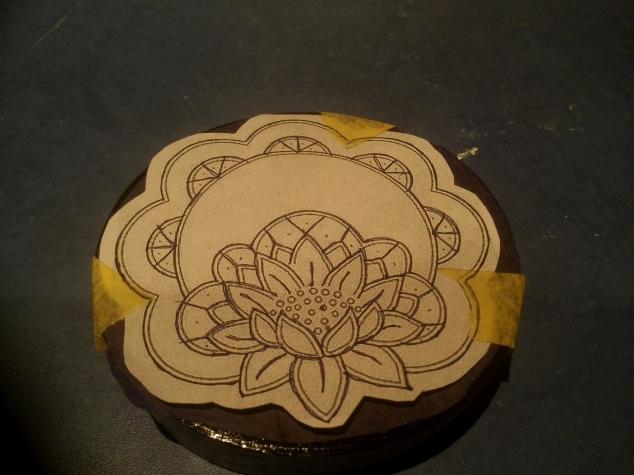 تکنیک ریشلو,تزیین جعبه چوبی