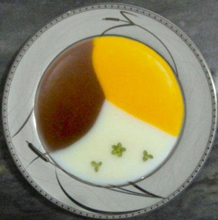 فرنی سه رنگ, دسر ماه رمضان