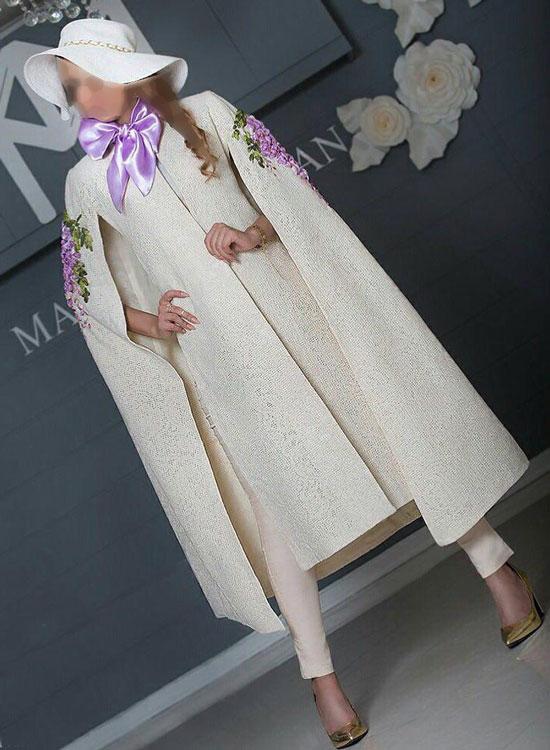 مدل مانتو مجلسی  , عکس مدل مانتو شنلی مجلسی ماریا بشیریان | مدل جدید مانتو