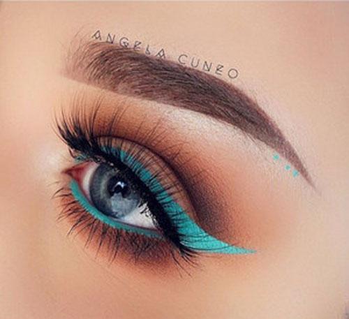 آرایش چشم ساده , مدل خط چشم