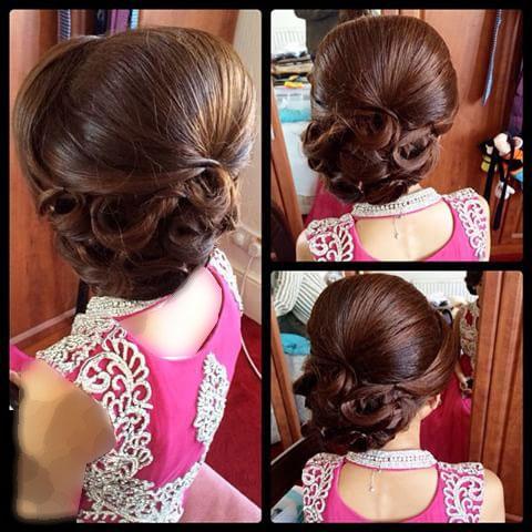مدل شینیون موی مجلسی ,مدل موی هندی