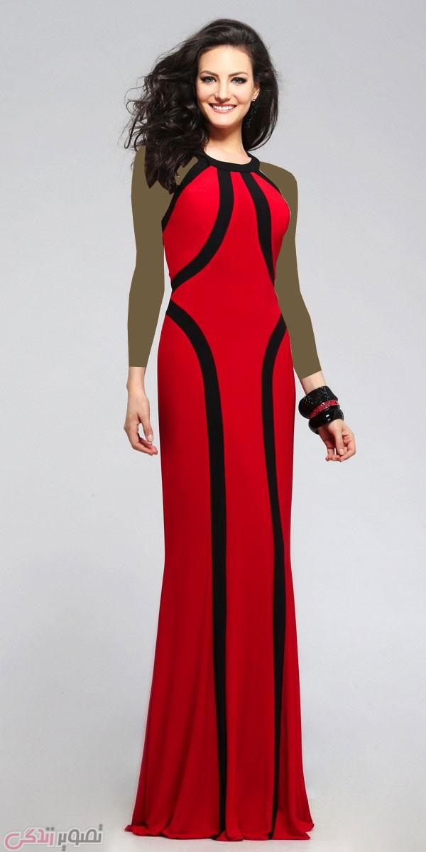 پیراهن شب بلند, لباس مجلسی قرمز