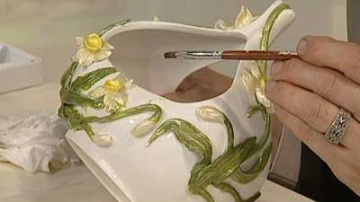 آموزش هنرهای دستی  , طرز تهیه خمیر فرانز / تزیین ظرف + فیلم