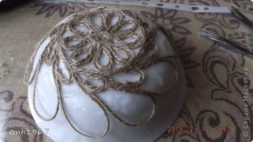 کاردستی با نخ کنف,ساخت ظرف با نخ کنف
