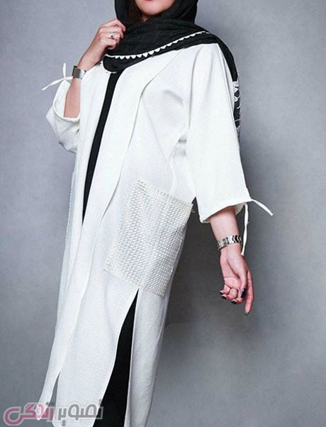 مانتو سفید تابستانی,مدل مانتو نخی 95
