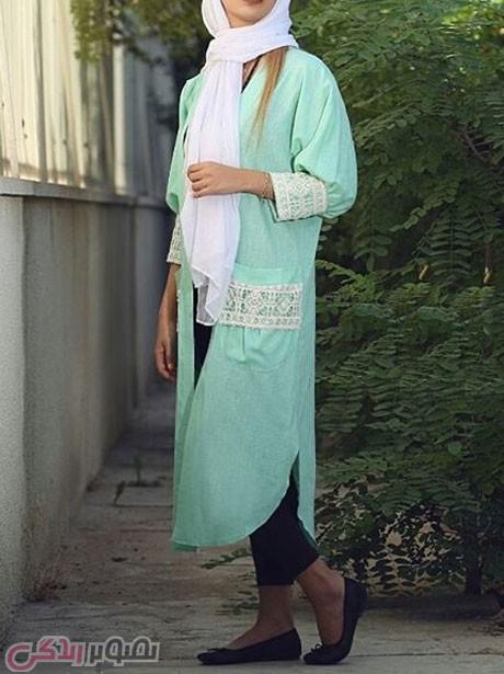 مدل مانتو جلو باز تابستانی , مانتو نخی 95