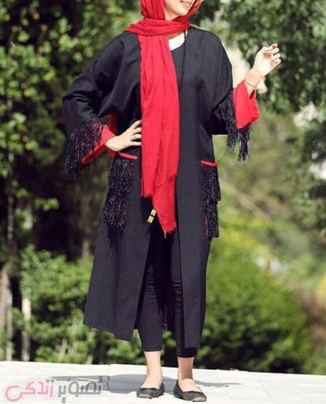 مانتو آستین کبمونو,مدل مانتو جلو باز, مانتو تابستانی 2016