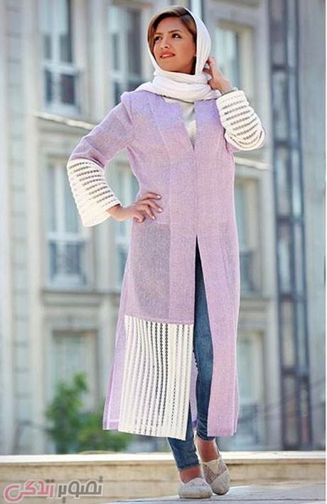مدل مانتو نخی تک رنگ تابستانه عکس مدل مانتو تابستانی جلو باز دخترانه مهردیزاین • مجله ...
