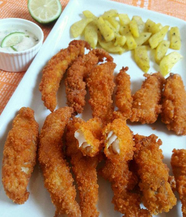 دستور پخت غذا  , طرز تهیه ماهی سوخاری با سس لیمویی خوشمزه