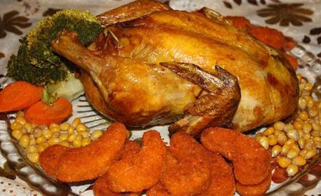 تزیینات مرغ شکم پر،تصاویر تزیین مرغ شکم پر