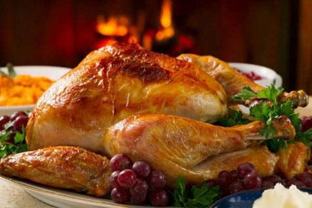 تصاویری از تزیینات مرغ شکم پر،نحوه تزیین مرغ شکم پر