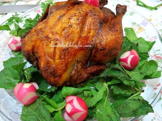 طرز تهیه مرغ شکم پر در فر