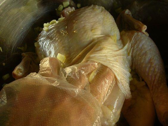 مرغ شکم پر, طرز پخت مرغ درسته