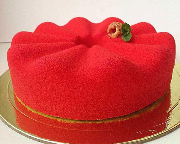 کیک مخملی , مدل تزیین کیک