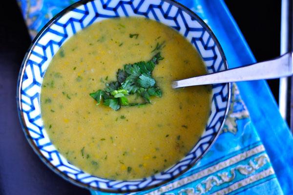 طرز تهیه سوپ کدو سبز تند