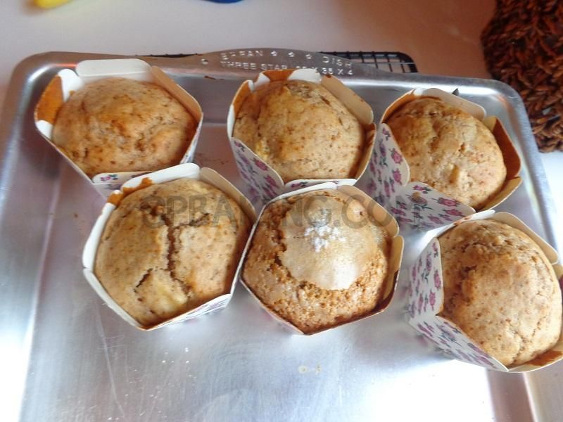 نان، شیرینی، دسر  , طرز تهیه مافین سیب عصرانه آمریکایی مقوی