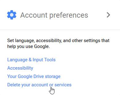 روش حذف حساب کاربری گوگل , سرویس های گوگل