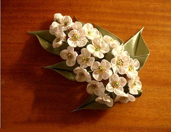 دوخت شکوفه روبانی, آموزش روبان دوزی