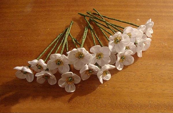 ساخت شکوفه با روبان , روبان دوزی