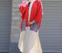مدل مانتو آستین کیمونو , مانتو تابستانی جلو باز
