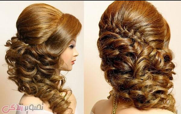 شینیون موهای باز, شینیون موی عروس, شینیون آبشاری