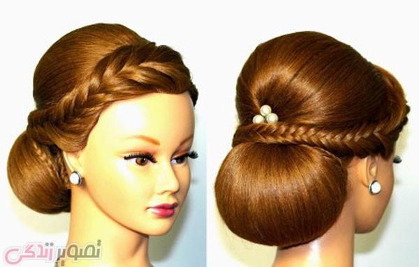 شینیون موی عروس, آرایش مو, مدل موی مجلسی