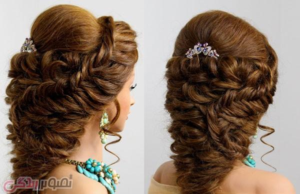 شینیون موی باز, شینیون موی عروس, شینیون آبشاری