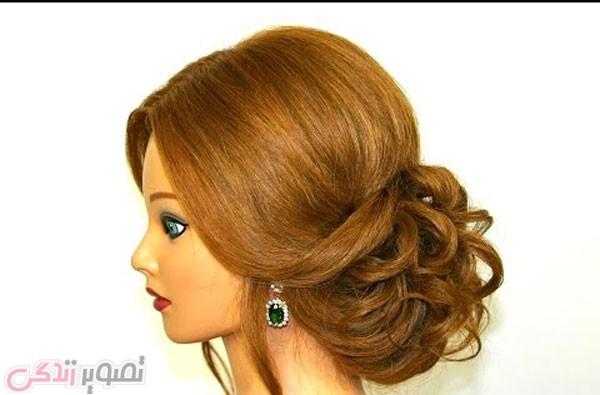 شینیون موی جمع, آرایش موی عروس, مدل موی مجلسی