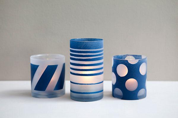 آموزش هنرهای دستی  , طرح دار کردن ظروف بلور ساده / پتینه ظروف شیشه ای