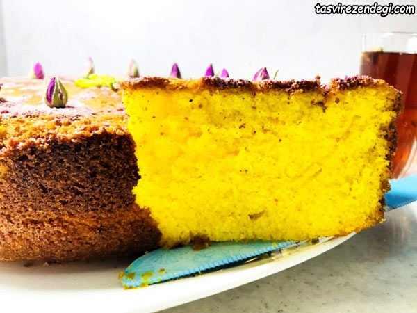 کیک هل و زعفران