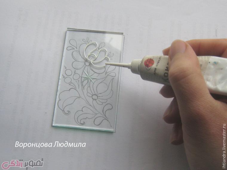 نقاشی ویترای,آموزش ویترای, تزیین فانوس