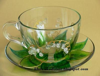 تزیین فنجان ، نما جواهر, ویترای, جواهرکاری