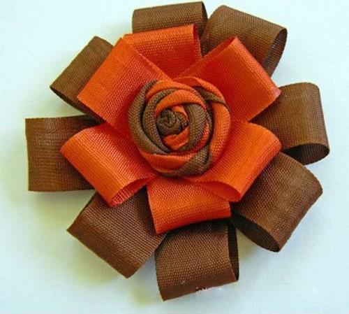 آموزش ساخت گل روبانی تزیینی ساده و زیبا