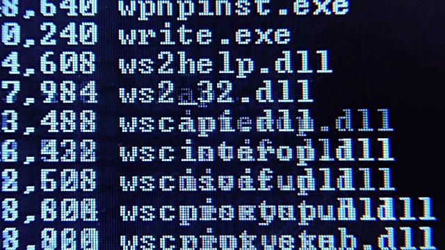کامپیوتر  , روشهای تهیه لیست فایلها و پوشههای یک دایرکتوری
