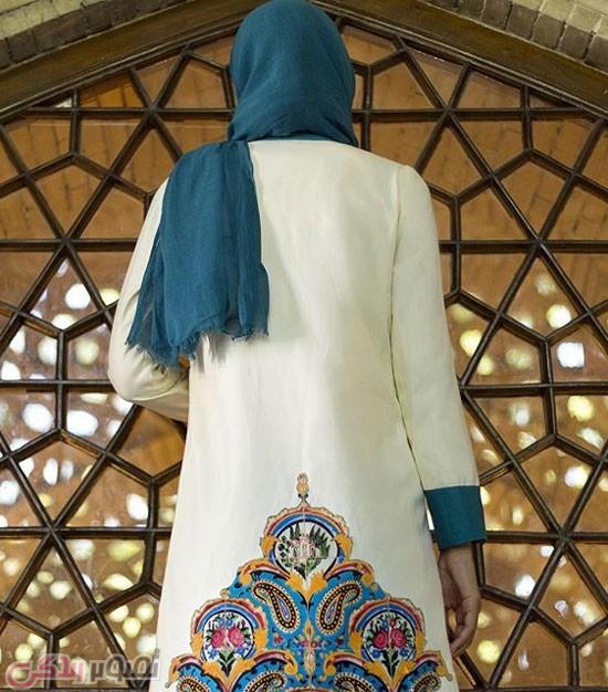 سایر مدل های مانتو  , عکس مدل مانتو دخترانه سنتی گالری ثریا | مدل مانتو طرح کاشی