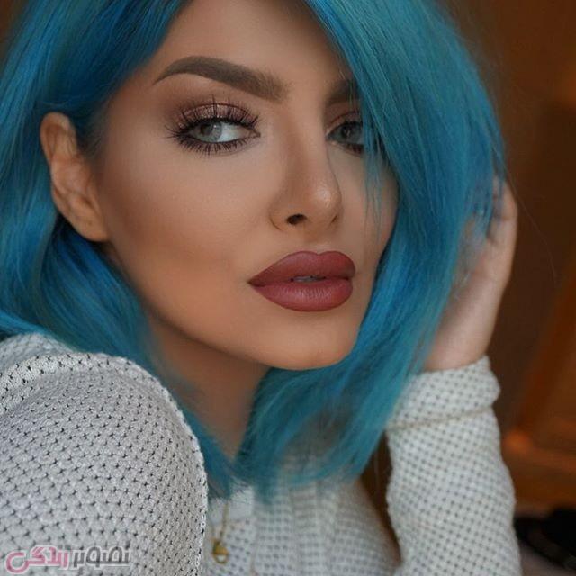 رنگ موی فانتزی,رنگ موی آبی