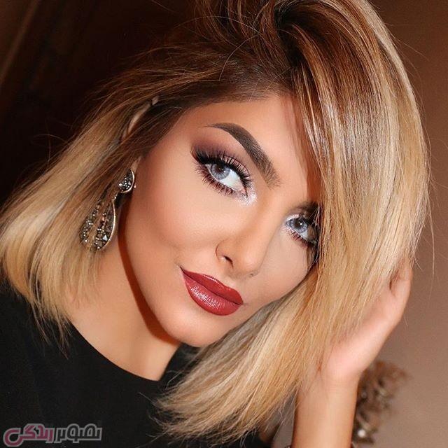 مدل آرایش صورت, هایلایت مو
