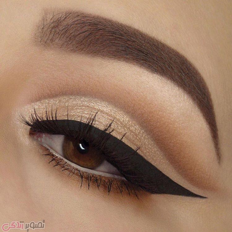 مدل خط چشم,مدل آرایش چشم,سایه چشم